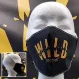 Wild Records - black mouth mask